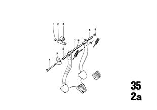Pedal-Yatak mesnedi/Fren pedalı