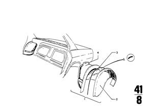 Radhaus hinten/Bodenteile