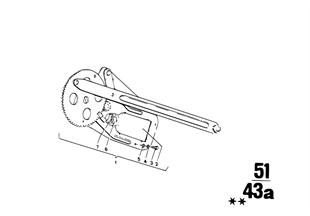 Μηχανισμός παραθύρου πόρτας πίσω