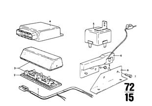 Pièces élec. p. ceintures sécurité USA