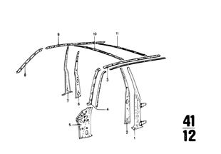 Seitengerippe-Längsträger/Säulen