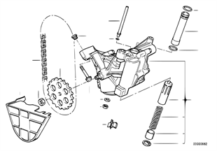 Lubrication system/Oil pump with drive