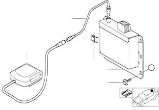 GPS-přijímací modul / GPS-anténa