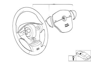 M 跑車方嚮盤 皮革 小型安全氣囊