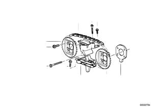 Mechanizm ster.-łańcuch sterujący górny