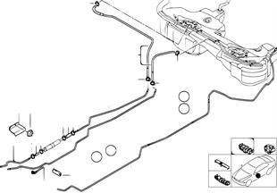 Przewód paliwa/Elementy mocujące