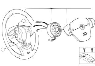 M 跑車方嚮盤 安全氣囊 皮革