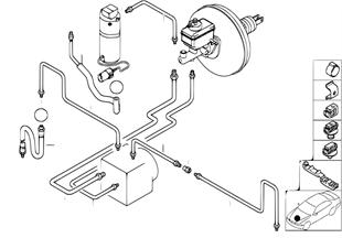 Front brake pipe ASC/DSC