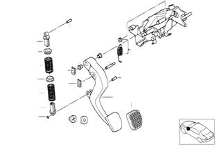 Pedale-soporte/pedal embrague