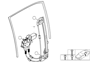 Mécanisme de fenêtre de porte arrière