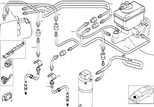 Bremsleitung vorne DSC