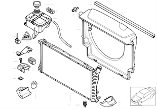 Ψυγείο νερού/δοχείο διαστολής/περίβλημα