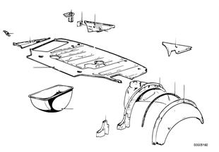 Gepäckraumboden/Radhaus hinten