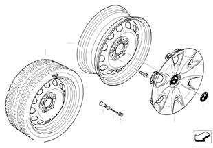Колесный диск стальной, дизайн 12