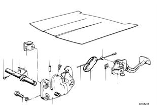 Mechanizm otw. pokrywy silnika