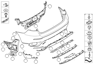 Trim cover, rear