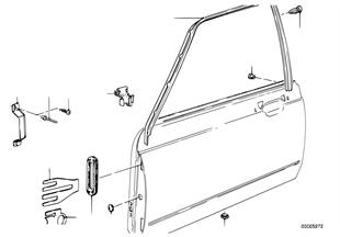 Drzwi przednie-rama szyby/elementy dod.