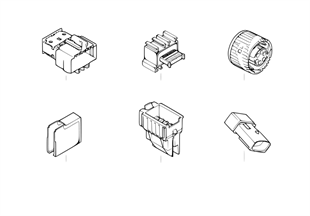 Diverse plugs and connectors