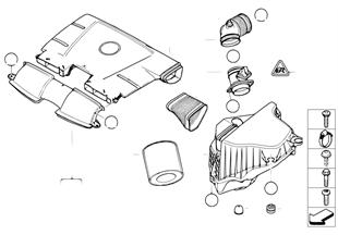 Inlaatluchtdemper/Filterelement/HFM