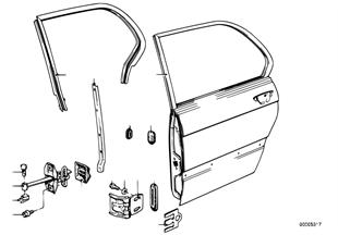 Rear door — hinge/door brake