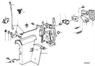 Система замков задней двери