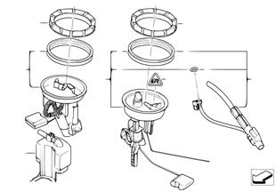 Bomba gasolina / Sensorio del nivel