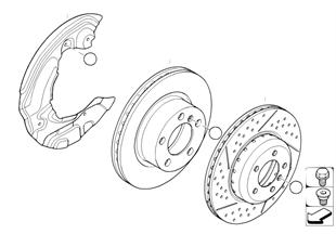 Travão dianteiro/disco do travão