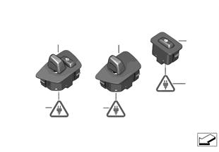 Switch, steering column adjust/heater