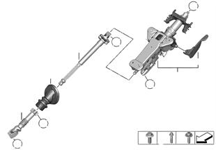 機械調整ステアリングコラム/取付部品