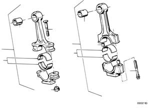 Kurbeltrieb-Pleuelstange