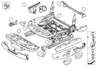シート、F シート レール 機械式/個別部品