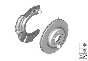 Freno ruota anteriore-disco freno