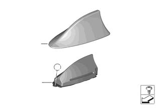 Jednotlivé díly střešní anténa