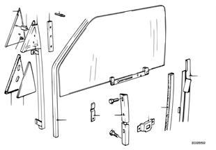 Μηχανισμός παραθύρου πόρτας μπροστά