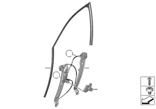 Meccanismo cristallo portiera anteriore