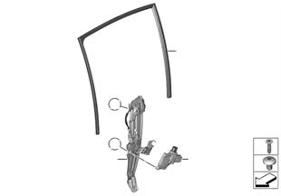 Meccanismo cristallo portiera posteriore