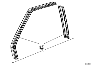 Guía de ventana delantera