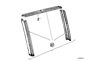 Window guide, rear