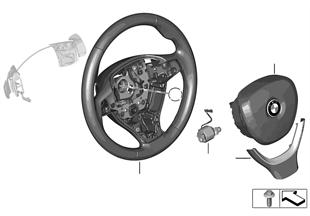 Volante depor. c/airbag multif./paletas