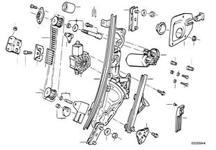Türfenstermechanismus vorn
