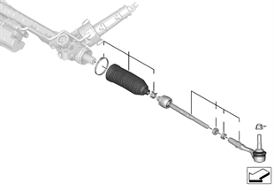 Tirantes da direcção/Barra da direcção
