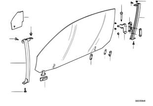 Mecanismo do vidro da porta dianteira