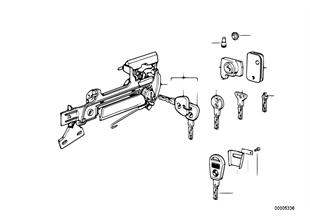 มือจับประตู ด้านหน้า/ตัวล็อค/กุญแจ