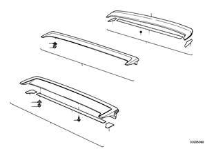 Rear spoiler single parts