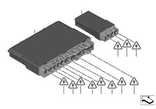 Unidade comando módulo banco frnt./atrás