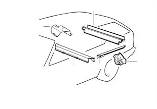 Element plancher partie arrière/int.