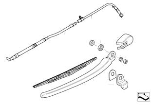 개별 부품, 뒷유리 세척장치