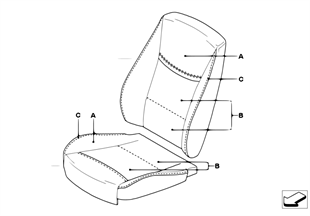 個性化座罩 標準座椅 前部﹐LC