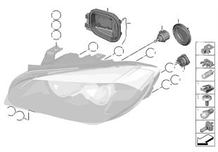 Losse onderdelen koplamp halogeen