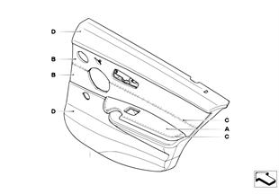 個性化車門飾板 部分皮革 後部 LC